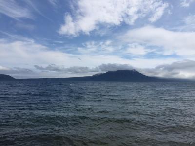支笏湖と雲
