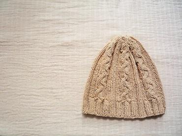 オフホワイト帽子