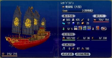 ルティーさんの新たなサルベ船『竜首船』
