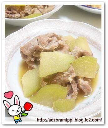 ハヤトウリと豚肉の煮物
