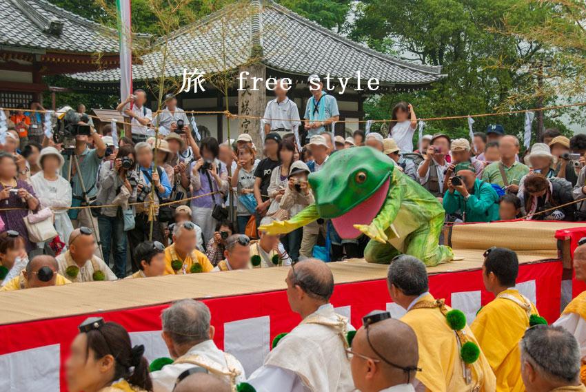 蔵王堂 蛙飛行事2