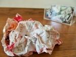 花岡伸宏作品「しわしわの紙」