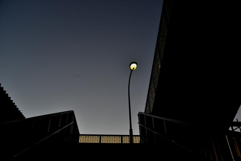 夕暮れ時の街-1