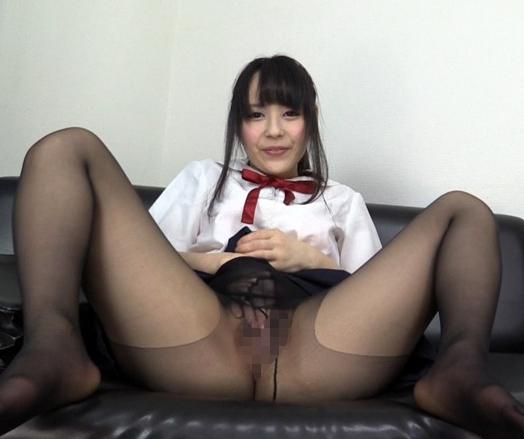 卑猥な黒パンスト女子校生のムチムチ太腿コキでイクの脚フェチDVD画像3