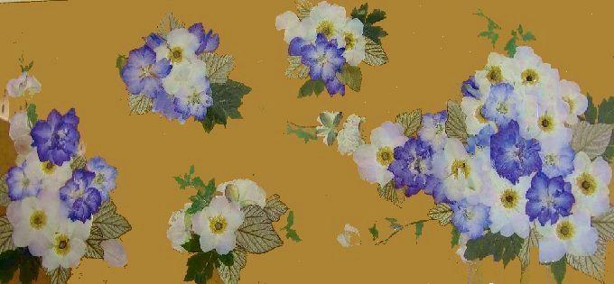押し花展の横サイズ作品