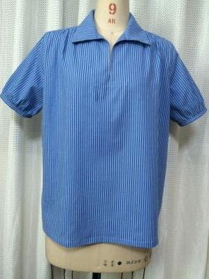 自分服半袖ブルーシャツ400
