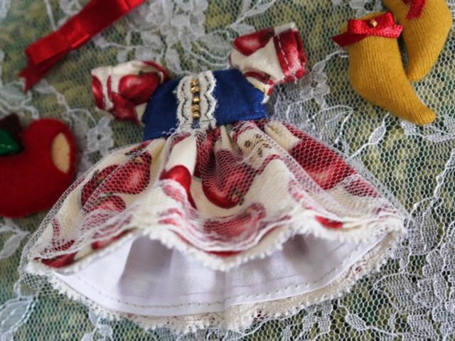 ◆オビツ11服◆白雪姫のりんごドレス◇5