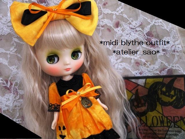 ◆ミディブライス服◆ハロウィン(*^^*)かぼちゃドレス◇1