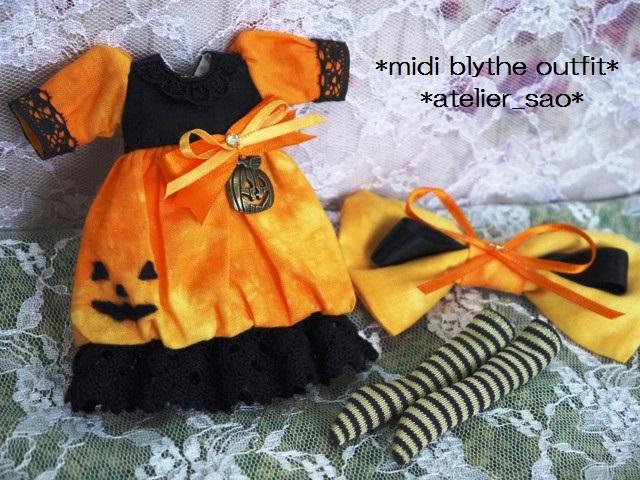 ◆ミディブライス服◆ハロウィン(*^^*)かぼちゃドレス◇3