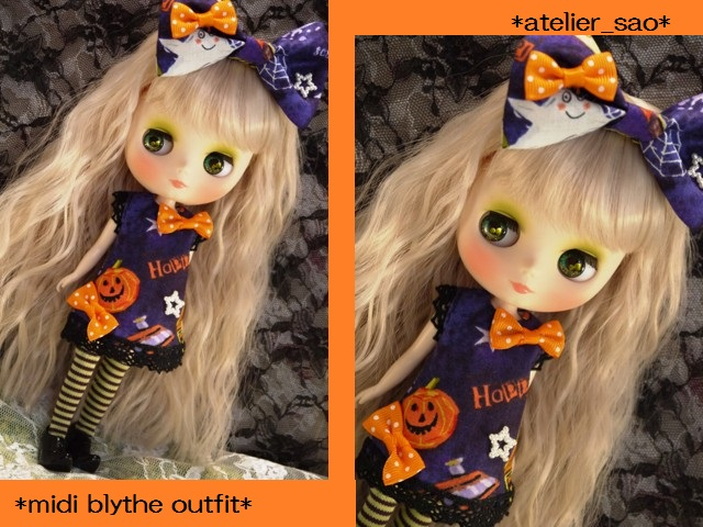 ◆ミディブライス服◆ハロウィン◇パープルワンピ◇かぼちゃ1