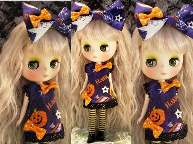 ◆ミディブライス服◆ハロウィン◇パープルワンピ◇かぼちゃ2