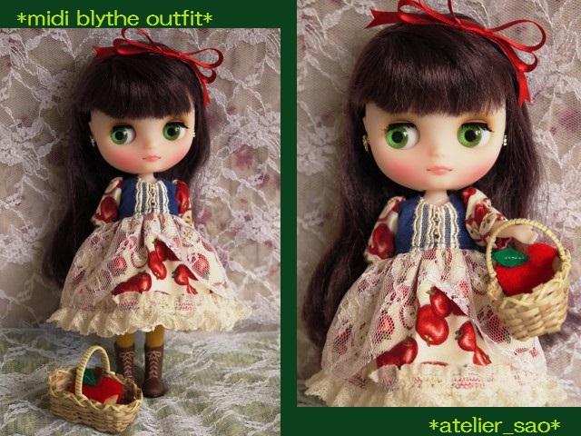 ◆ミディブライス服◆白雪姫のりんごドレス◇1