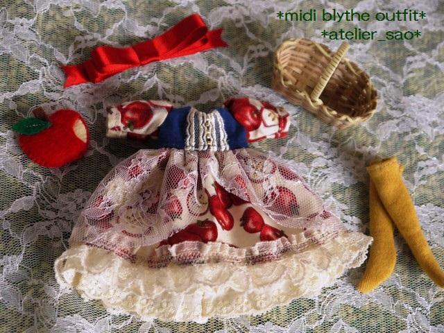 ◆ミディブライス服◆白雪姫のりんごドレス◇3