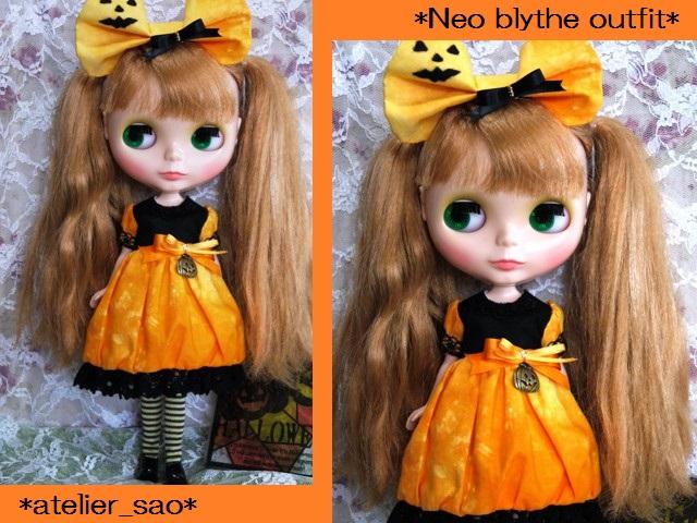 ◆ネオブライス服◆ハロウィン(*^^*)かぼちゃドレス◇1