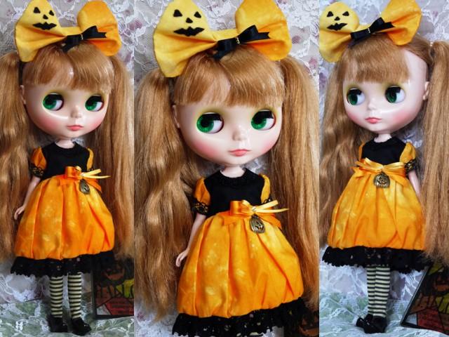 ◆ネオブライス服◆ハロウィン(*^^*)かぼちゃドレス◇2