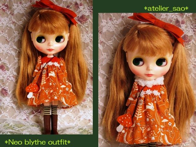 ◆ネオブライス服◆きのこの森のオレンジドレス◇ 1
