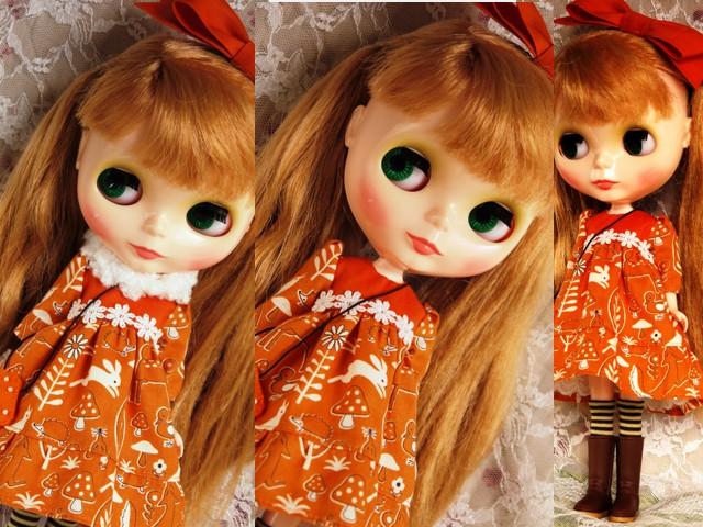 ◆ネオブライス服◆きのこの森のオレンジドレス◇ 2