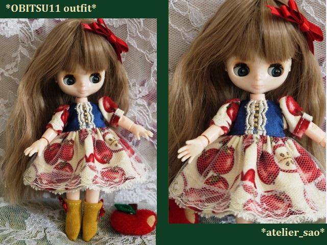 ◆オビツ11服◆白雪姫のりんごドレス◇1