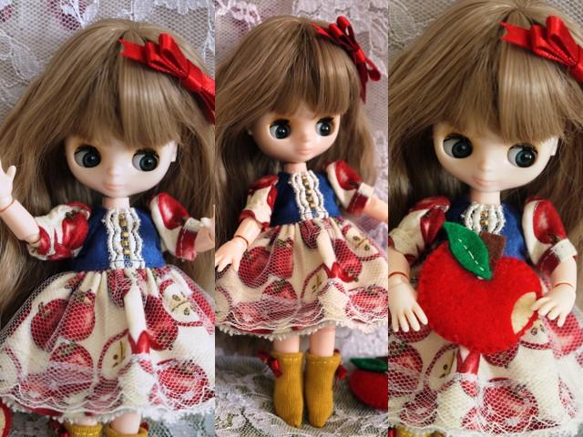 ◆オビツ11服◆白雪姫のりんごドレス◇2