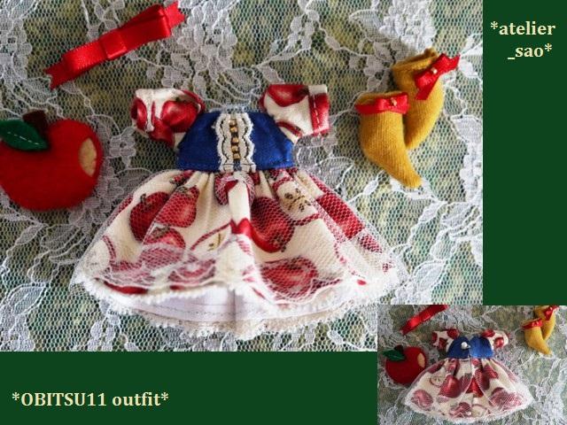 ◆オビツ11服◆白雪姫のりんごドレス◇3