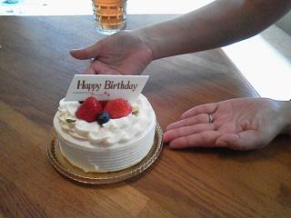 150813誕生日ケーキ