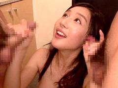 清楚な美人AV女優【古川いおり】ちゃんが朝から晩まで一日中挿入しっぱなし大乱交パーティ