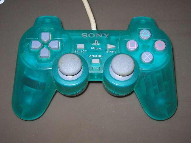 PS プレイステーションコントローラー DUALSHOCK デュアルショック SCPH-110 エメラルド メンテナンス、分解作業 分解前