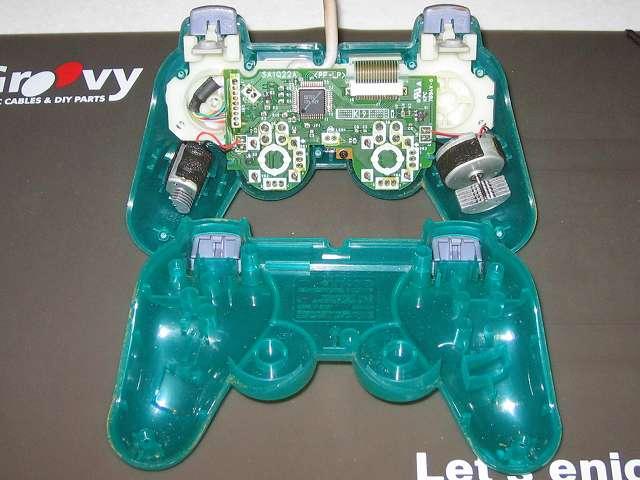 PS プレイステーションコントローラー DUALSHOCK デュアルショック SCPH-110 エメラルド メンテナンス、分解作業