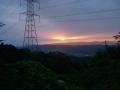 150822十三峠から奈良側の夜明け