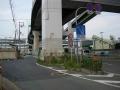 150829此花大橋へは側道へ
