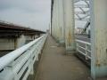 150829伝法大橋の狭い歩道