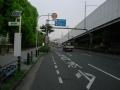 150829出来島大橋横の側道を行く