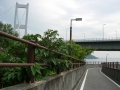 150921来島海峡大橋のアプローチを今治に下る