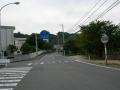 150921粟井小学校を左折。県道20号へ