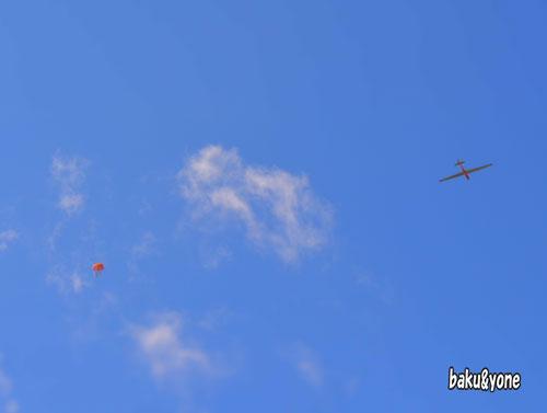 グライダーとパラシュート
