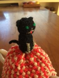 黒猫のティーコージー7