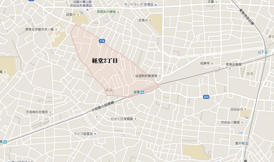 地図_経堂2丁目