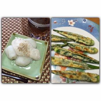オクラのマヨ焼き&冷やし汁粉 (350x350)
