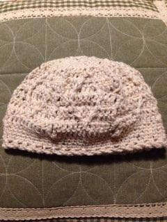 ダイヤ柄のニット帽