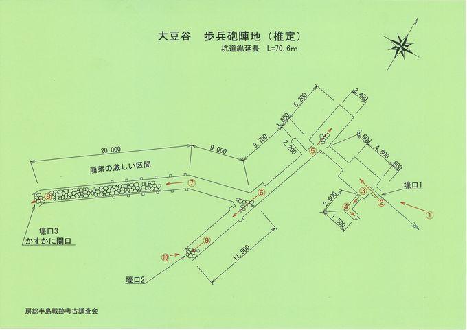 大豆谷歩兵砲陣地縮小
