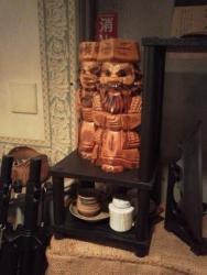 琉球珈琲館 木彫りの像