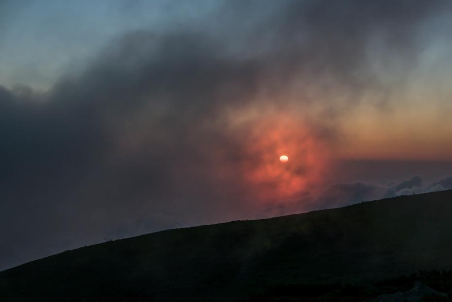 2015.08.27白山登山ー雲海と夕焼け17