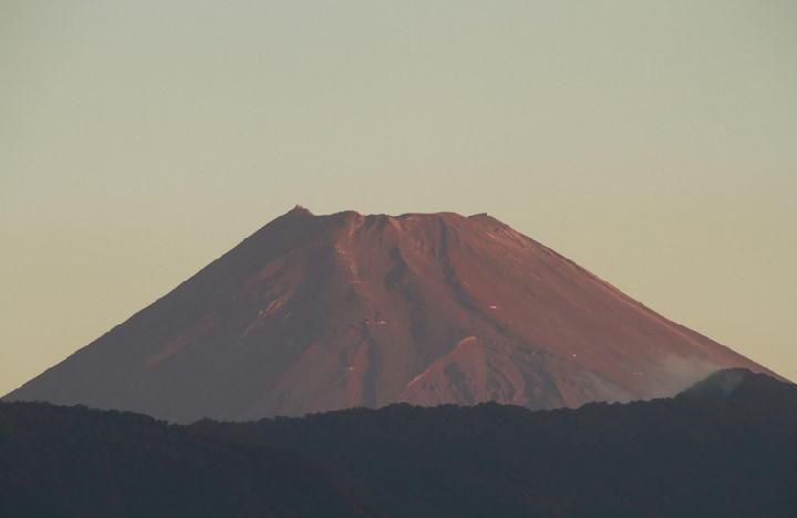10月7日 5-57 今朝の富士山