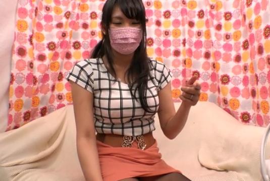 顔出しNGのマスク美人はスッゲー巨乳で超スケベ!