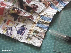 レトロローズ 白 型紙