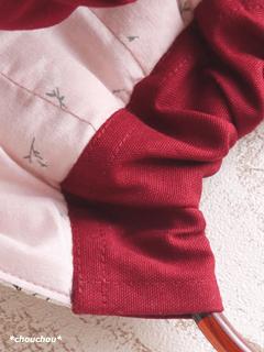 Retro rose 白 口布 中