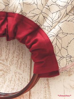 Retro rose 白 リングのバッグ2
