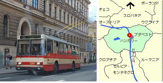 ブダペストの交通マップ