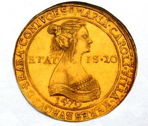神聖ローマ皇帝 6ドゥカット金貨 1479年 マクシミリアン1世とブルグントのマリア 2