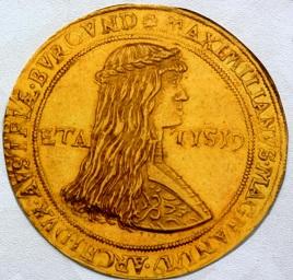 神聖ローマ皇帝 6ドゥカット金貨 1479年 マクシミリアン1世とブルグントのマリア
